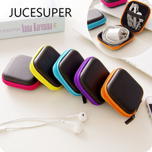 Hot 1PCS Headphones Earphone Cable Earbuds Storage Bag Hard Case Carrying Pouch Bag SD Card Hold Box