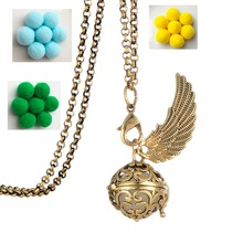 Clearance  Exclusive Design Angel Wing Essential Oil Diffuser Necklace Pendant For Women Perfume Jewelry and Accessories Gifts