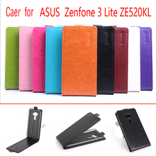 9 Colors Luxury Wallet Leather Flip Case Cover For Asus Zenfone 3 Lite ZE520KL Cell PhoneCases Back Cover With Card Holder Stand(China)