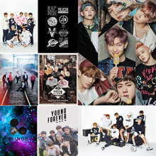 BTS Band Posters Wall Stickers White Paper Prints Home Decoration Abooly MD6541