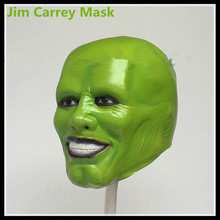 China Manufacturer Hot Selling Newest Green Latex Movie Jim Carrey Cameron Diaz Loki Full Face Anonymous Mask Free shipping