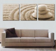 3 Pieces/Set Group Wall Poster Pictures For Living Room Modern Home Decorative Canvas Oil Paintng Still Life Stones Artworks
