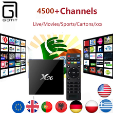 Europe IPTV X96 2G16G Android 6.0 Smart TV Box with 4400+ channels Europe Germany UK Netheland Portuguess Pay TV Set Top Box(China)