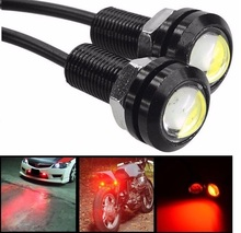 CYAN SOIL BAY 4Pcs Red Eagle Eye 18mm 9W Motor Car Tail Brake Turn Signal FOG DRL LED  Reverse Backup Lamp 12V 24V Car Styling