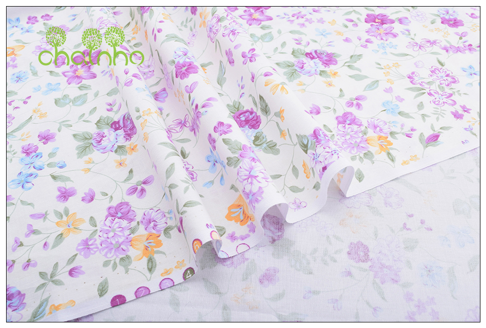 Chainho Twill Cotton Fabric,Patchwork Floral Tissue Cloth,DIY Sewing Quilting Fat Quarters Material For Baby&Children,5pcs/lot 15