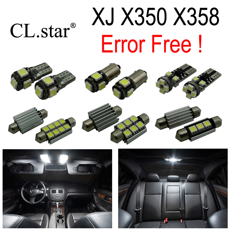 20pc X Canbus Error free LED Interior dome map reading Light lamp Kit Package For Jaguar XJ XJ8 XJR X350 X358 (2003-2009)<br><br>Aliexpress