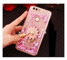 For Huawei P9 Lite/ P9 / P9 Plus Case Dynamic Liquid Glitter Sand Quicksand Star Crystal Clear case cover
