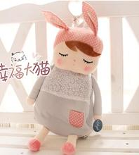 candice guo! hot sale super cute plush toy doll schoolbag metoo rabbit Angela colorful backpack many kinds to choose 1pc(China)