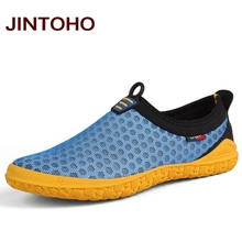 JINTOHO big size 38-47 men's casual shoes summer breathable slip on men loafer luxury brand mesh men shoes zapatillas hombre(China)