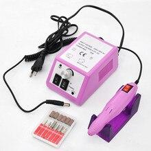 Электрический Профессиональный Nail Маникюр машина маникюр педикюр Pen Tool Set Комплект(China)