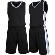 Team Basketball Jersey Man's Training Shirt Short Adults Sports Jerseys Solid Color Blank Basketball Uniforms Customized Jersey(China)
