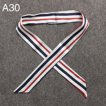 [SLKSCF] 100X4CM New Design fashion satin ribbon silk feeling streamers of ribbon small silk scarf twilly beautiful bag belt
