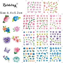 2017 New Arrival Good Looking Beautiful Flower Series Nail Sticker Nail Accessories And Tools Nail Art Water Nail Decal(China)
