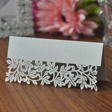 50pcs Hollow Out Wedding Party Table Name Place Cards Favor Decor Wedding Decoration 2016 New Arrival