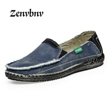 ZENVBNV New arrival Low price Mens Breathable High Quality Casual Shoes Jeans Canvas Casual Shoes Slip On men Fashion Flats shoe(China)