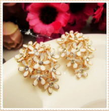 AL729109,2pc/lot 28mm*20mm flowers rhinestone buttons,DIY hair ornaments handmade bow,Rhinestone faceplate diamond clasp(China)