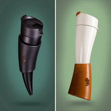 Creative Goat Horns Coffee Drink Bottles Stainless Steel Insulated Vacuum Thermos Bottles Cup Travel Water Bottles