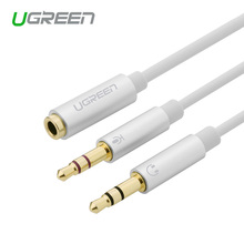 Ugreen  3.5mm audio  cable Phone headset computer headset microphone combo conversion head adapter cable 3.5mm audio splitter