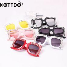 KOTTDO UV400 Moda Strass Crianças Bebê Crianças Óculos de Sol Óculos de Sol  Óculos De luxo Óculos De Sol Meninos Meninas Oculos . a7959c4b5a