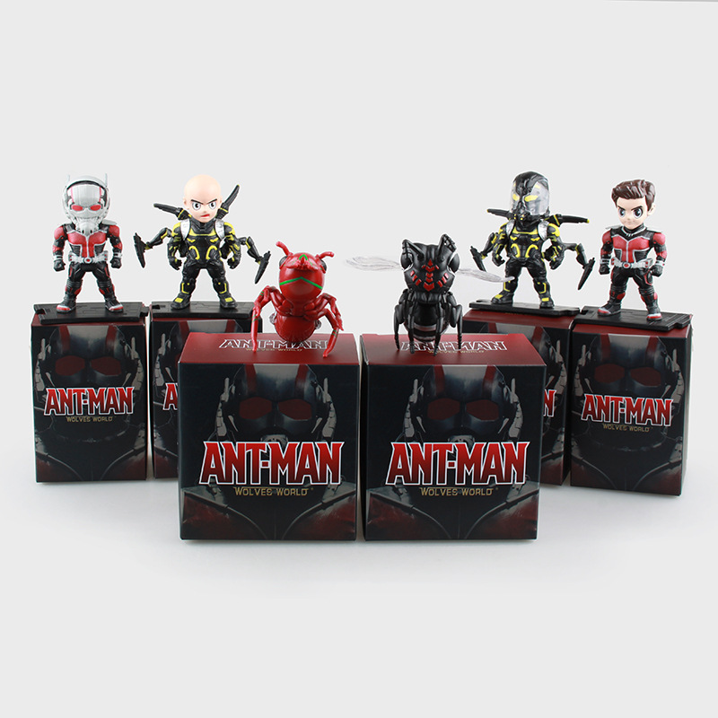 6pcs/set Antman Action Figure Correction Birthday Toy Gift 7cm To 9cm Ant Man Yellow Jacket Model Doll<br><br>Aliexpress