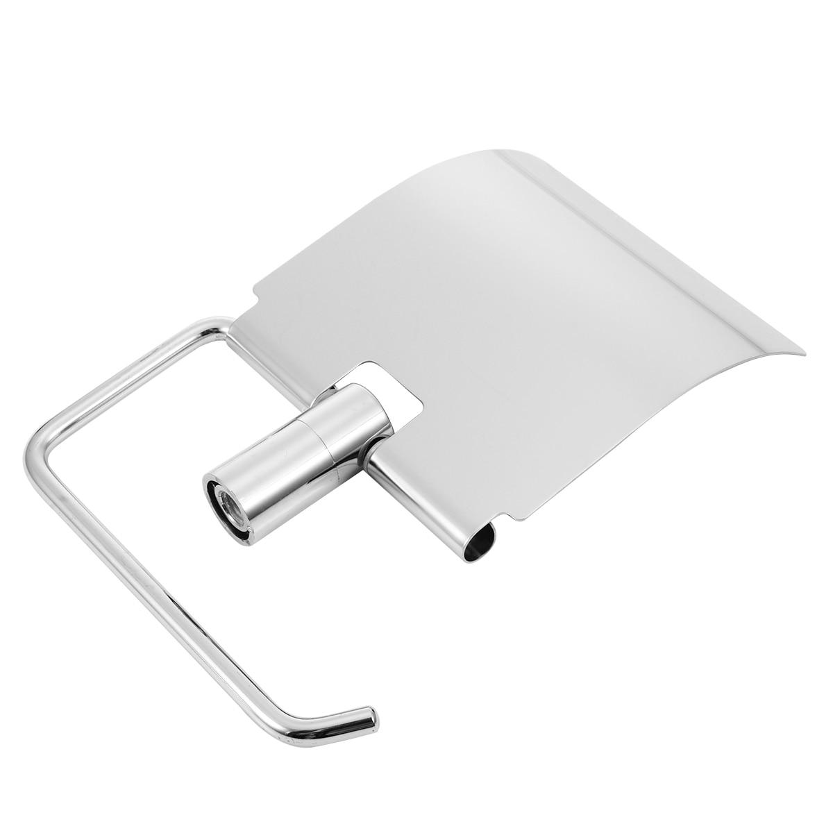 Stainless Steel Wall Mounted Toilet Paper Holder Tissue Paper Holder Roll Dispenser Storage Shelf for Bathroom Accessories