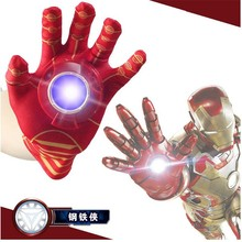 2016 Newest Iron Man Toys Anime The Avengers Ironman Glove Emitter Sound Light Action Figures Creative Toys Chirstmas Gifts
