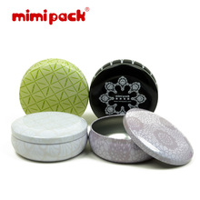 Mimi Pack tin gift box fashion pehcans round snacks storage bag tea caddy  tin box