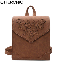 OTHERCHIC Fashion Stylish Women Backpacks Quality Nubuck Leather Vintage Backpacks For Teenage Girls Sac A Dos Femme L-7N08-07(China)