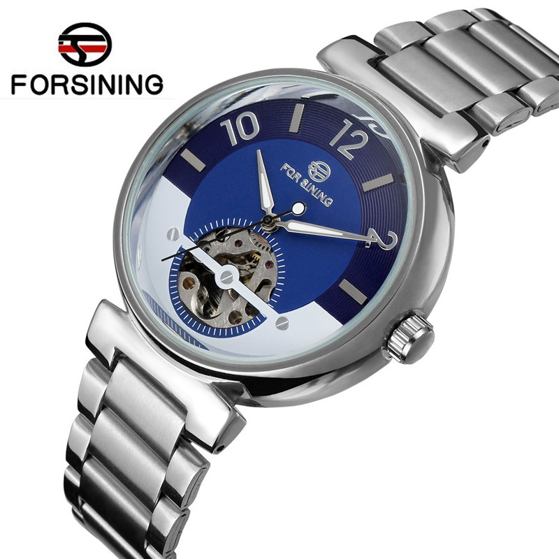 2017 Forsining Famous Watches Brand Luxury Mens Blue Dial Skull Horloge Auto Mechanical Wrist Watch Best  Free Ship<br><br>Aliexpress