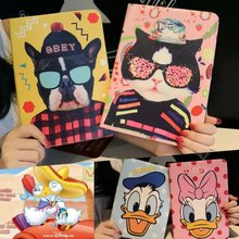Tablet Protective Case For Apple ipad air1 2 / 3D Cartoon Cute Hands On Face Donald Duck and cat pattern Case Silicon Back Cover
