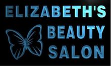 Elizabeth's Beauty Salon Custom Personalized Name Bar Beer pub club 3d signs LED Neon Sign man cavehome decor shop crafts(China)
