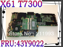 Good quality for X61 With T7300 CPU Laptop Motherboard 43Y9022 100% Work Perfect