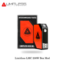 New Version Original Limitless LMC 200W TC Box Mod Kit With Interchangeable Plates Electronic Cigarette Fashion USA Vape(China)
