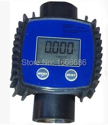 2015 new K24 Digital Electronic adjustable  turbine Flow Meter / Methanol / Diesel / Gasoline / Chemical Liquid Water Meter<br>