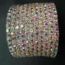 Tdqueen 2017 Limited Rushed Pulseiras Bracelet Rhinestone Multi-row Spiral Bangle Bracelet Cuff/crossdresser/drag(China)