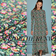 LEO&LIN Floral Designers In Paris Interstellar Paragraph Macross Digital prIntIng Silk Crepe Fabrics (1 Meter)(China)