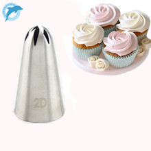 LINSBAYWU #2D Large Size Rose Flower Cake Decorating Icing Tip Cupcake Nozzles Decoration