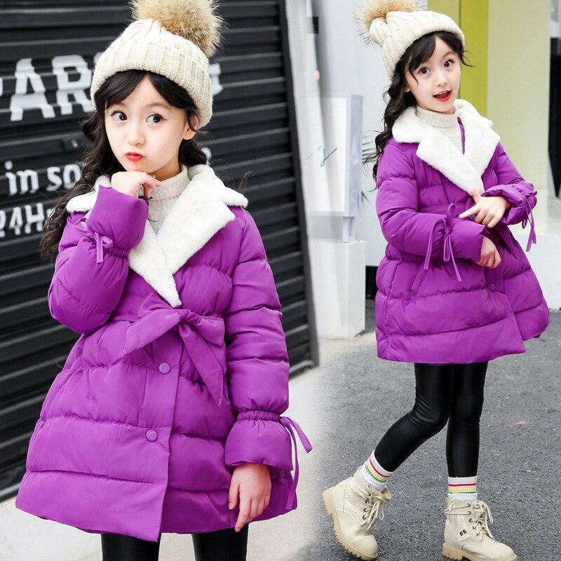 Girls Winter Coat Casual Warm Long Hooded Jacket for Girls 2017 Brand Fashion Teenage Kids Outerwear Parkas Children ClothingÎäåæäà è àêñåññóàðû<br><br>