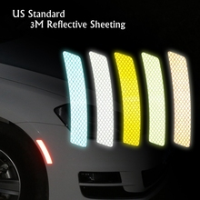 Top Quality US standard 3M Reflective Car Truck Wheel Lip Sticker Safety Warning Signs Conspicuity Tape For BMW VW Ford(China)