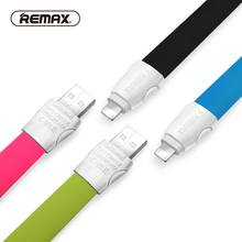 REMAX 2.1A USB cable 8pin charging Data Cable Fast Sync Charger Flat 13mm Wide TPE Cable Street Style for iphone/5/6s/plus/ipad