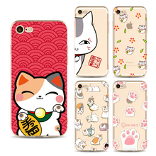 Buy Cute Lucky Cat phone Cases Iphone 6 6s 6Plus 7 7s 7plus Soft Fundas Clear TPU Silicon Ultra Thin Cartoon Phone Cover Case for $1.05 in AliExpress store