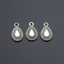 10PCS New Antique Silver Water Drop Alloy Charms Pendant Necklaces Bracelets Jewelry Finding DIY  A2284