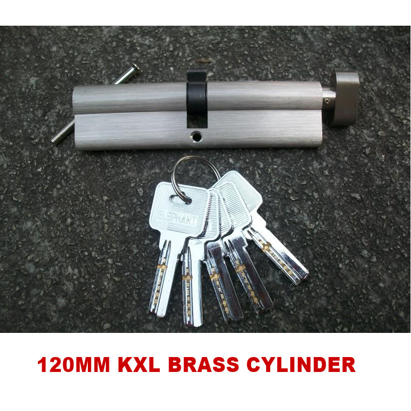 120MM LENGTH KXL BRASS CYLINDER ONE SIDE WITH KEY AND THE OTHER SIDE WITH KNOB SUIT FOR DOOR THICKNESS 9-10CM<br>