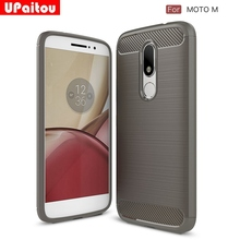 UPaitou For Motorola Moto M Case Ultra Thin Carbon Fiber Case Scratch Resistant Soft TPU Back Cover Case for MotoM XT1662 XT1663(China)