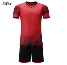 AXFAM Football Uniforms 2017 Short sleeves Perfect quality Soccer Sets Custom Training Suit Soccer Jerseys shorts AL15023