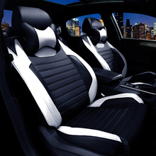 Custom Leather car seat covers For Land Rover range rover discovery freelander Sport evoque 2017-2014 car accessories styling(China)