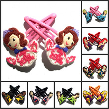2pcs Princess Sofia Hair Clips Cartoon Hairpins Girls Barrettes Kids Headwear Multicolor Band Accessories Travel Accessories(China)