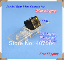 Factory selling, HD CCD with 4 LEDs Car Rear View Reverse back up Camera for Subaru Legacy(China)