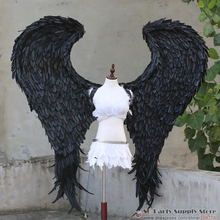 New Costume Adult's black Devil feather wings Cosplay cosplays photography Game Display props EMS free shipping