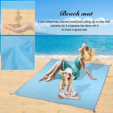200*200cm Portable Folding Sand-Free Sandless Mat Outdoor Camping Beach Lazy Mat Large Picnic Travel Blanke Top Sale(China)